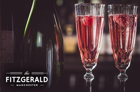Cocktails, wine or Prosecco at The Fitzgerald, Northern Quarter