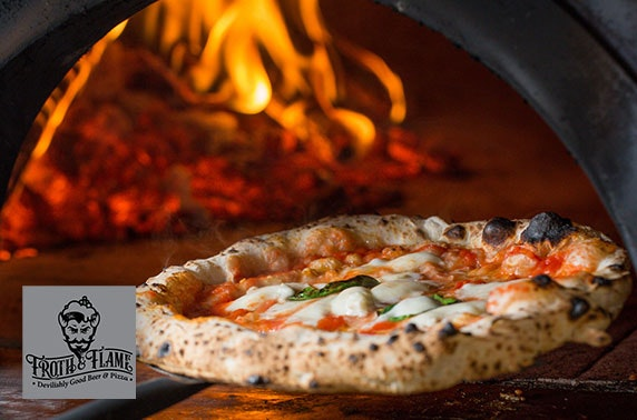 Brand new Froth & Flame pizzas