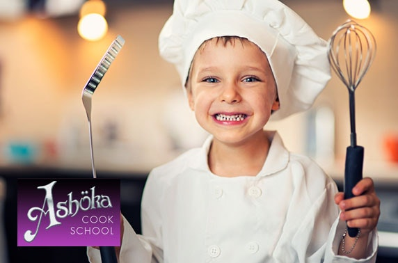 Kids cookery class at Ashoka Cook School, West End