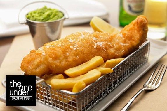 4* Macdonald Rusacks fish & chips and gin