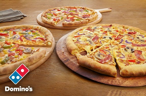 Pizza feast from Domino's Dundee