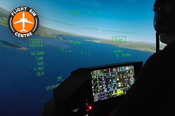 Flight simulation experience nr Newcastle Airport - from £24