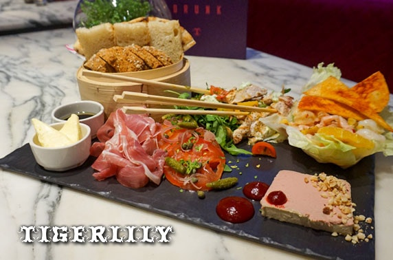 4* Tigerlily sharing platter & drinks