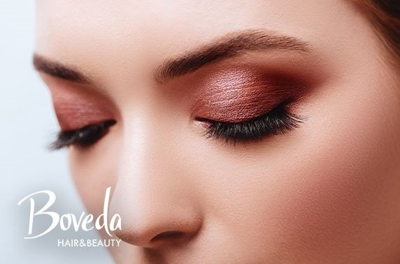 Lash & brow treatments and gel nails at Boveda