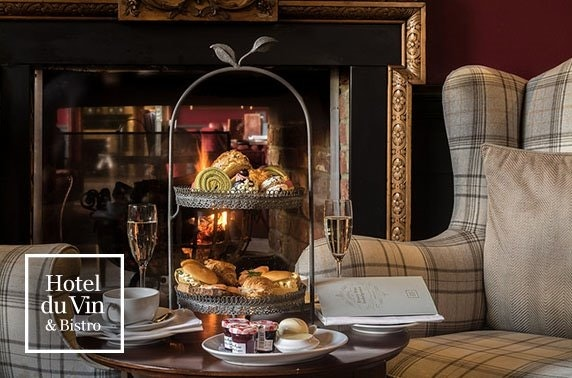 Gin afternoon tea, 4* Hotel du Vin Edinburgh