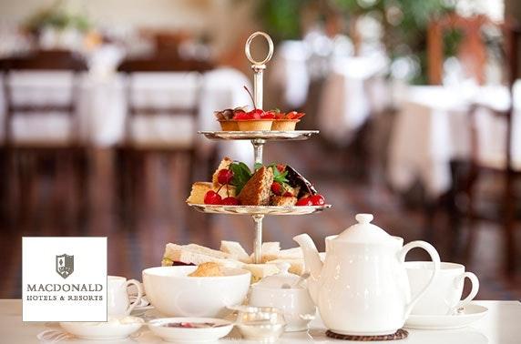 Gin afternoon tea, 4* Macdonald Inchyra Hotel & Spa