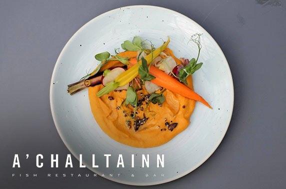 A'Challtainn small plates & Prosecco