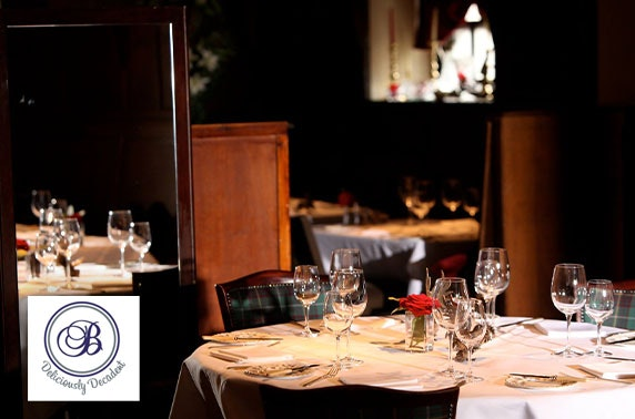 Two Fat Ladies at The Buttery luxury lunch for two with Prosecco