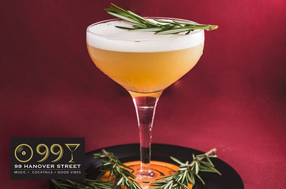 Cocktails at 99 Hanover Street