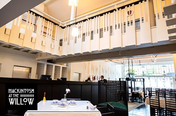Mackintosh at the Willow Champagne afternoon tea