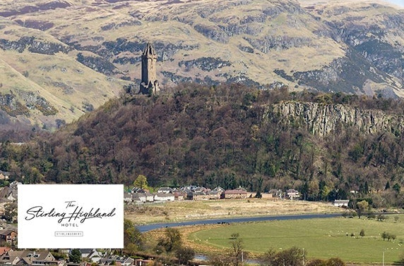 4* Stirling Highland Hotel DBB & spa break