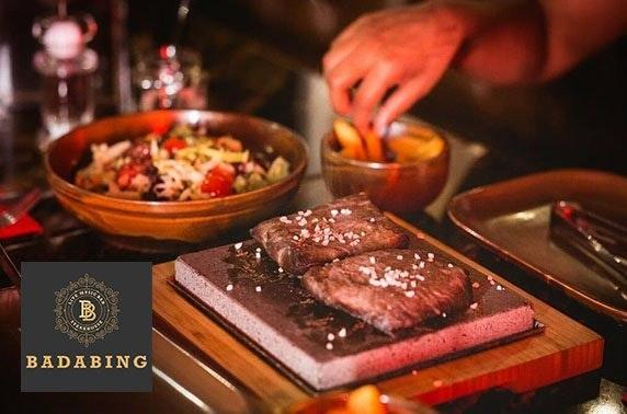 Badabing hot stone steaks