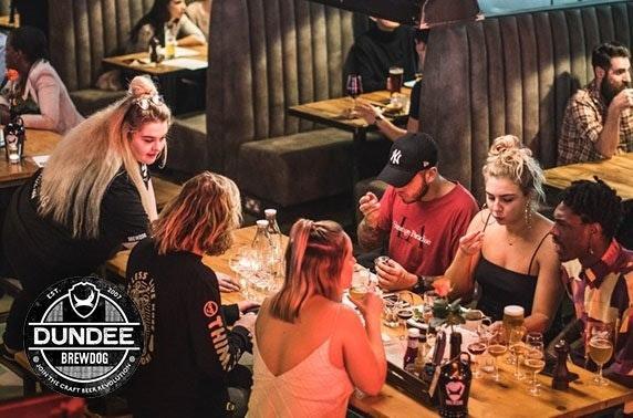 BrewDog Dundee gin flights & cheeseboard