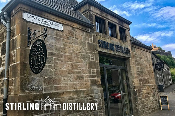 Gin tour and tasting or gin school, Stirling Distillery