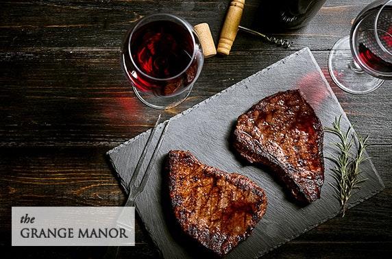 4* Grange Manor Hotel dining