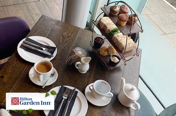 Hilton Garden Inn sparkling afternoon tea, Finnieston