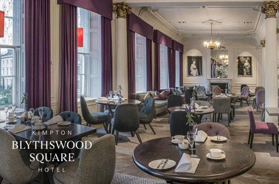 5* Blythswood Square Hotel sharing platter & wine