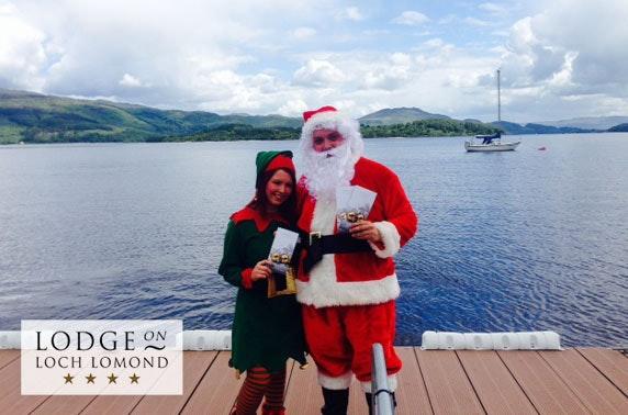 Meet Santa at 4* Lodge on Loch Lomond