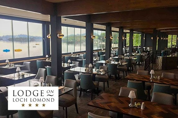 4* Lodge on Loch Lomond morning or afternoon tea