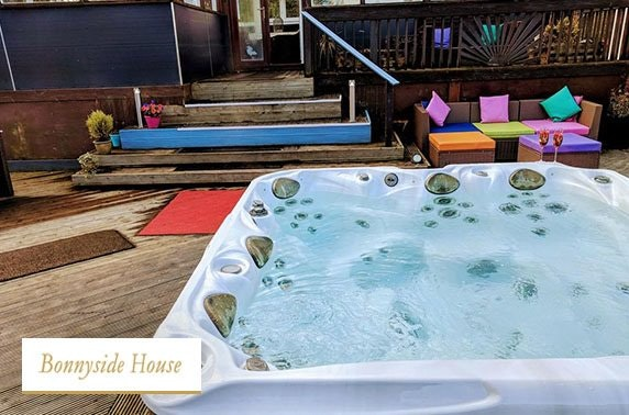 Group getaway with hot tub - from £22pppn