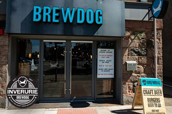 Burgers and beer at BrewDog, Inverurie