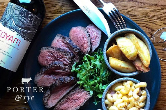 Porter & Rye steak & wine experience