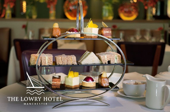 Afternoon tea with a G&T at 5* The Lowry Hotel