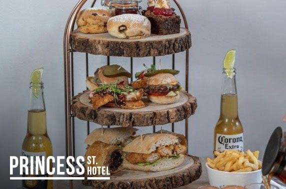 Gentleman's afternoon tea at Princess St Hotel