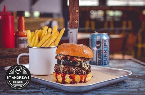 Brewdog St Andrews burgers and fries