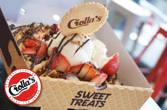 Ice cream or waffles at Crolla's - from £3.50pp