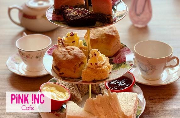 Afternoon tea at Pink Inc Café, Shawlands