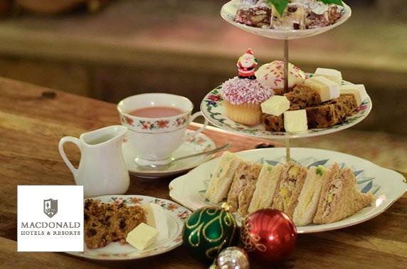 Festive afternoon tea, 4* Macdonald Cardrona Hotel
