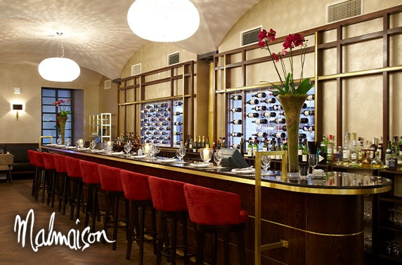 4* Malmaison Glasgow chateaubriand & drinks
