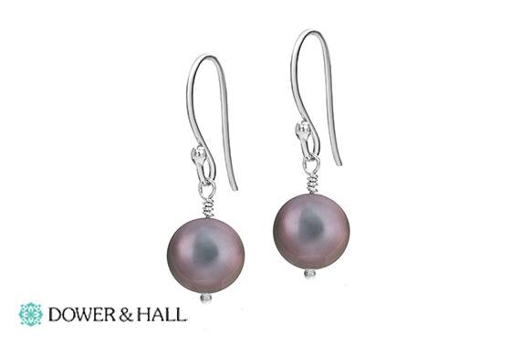 Dower & Hall pearl drop earrings