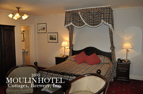Pitlochry stay with cream tea and Prosecco