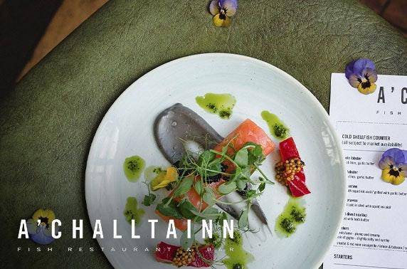 A'Challtainn food & drinks voucher