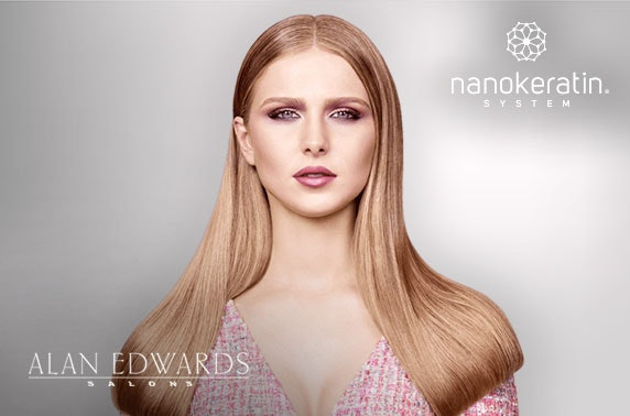 Award-winning Alan Edwards Nanokeratin blow dry