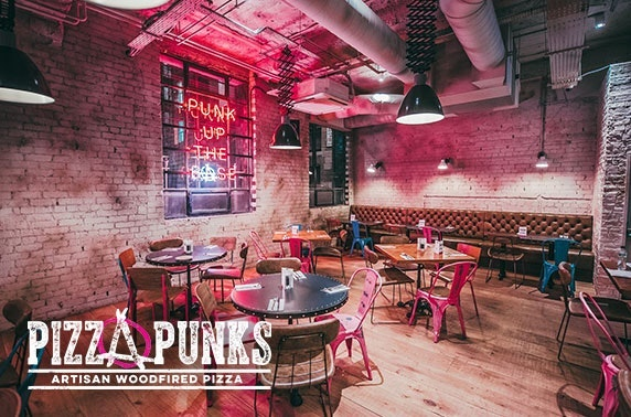 Pizza & drinks at Pizza Punks, Glasgow City Centre