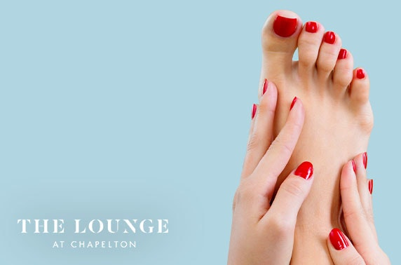The Lounge mani, pedi or lash lift
