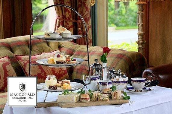 4* Norwood Hall afternoon tea - valid 7 days