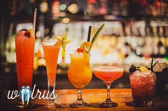 Walrus cocktails and masterclass, Northern Quarter - valid 7 days