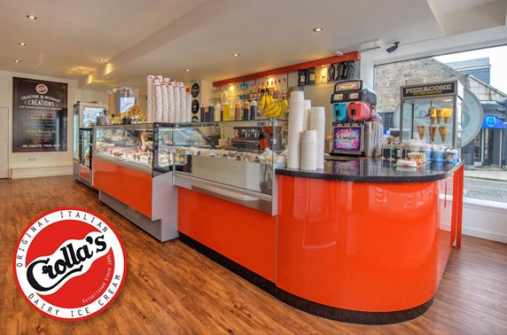 Crolla's ice cream, Aberdeen - from £3 pp