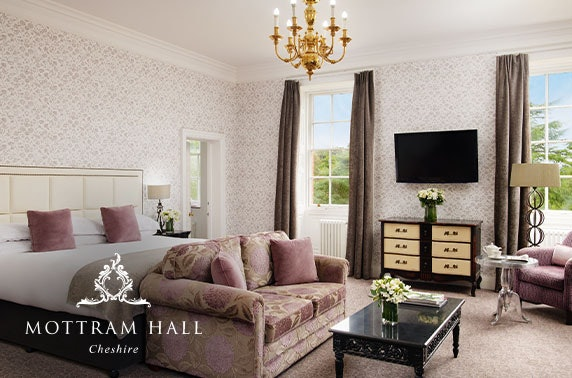 Luxury Mottram Hall suite stay, Cheshire