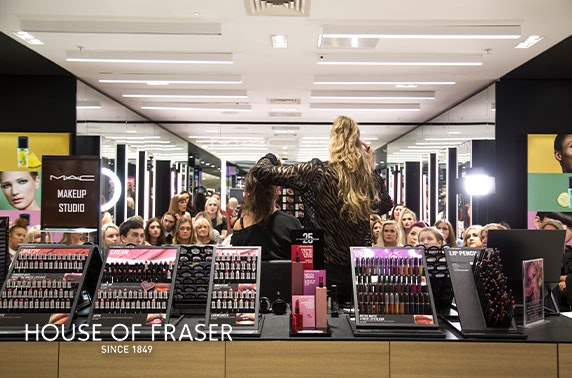 MAC masterclass, House of Fraser