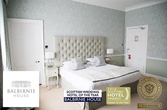 Award-winning Balbirnie House Hotel stay
