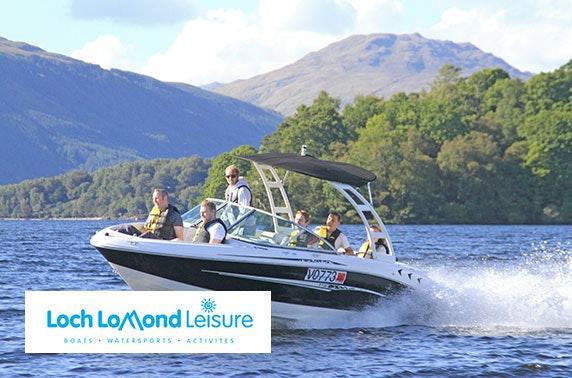 Loch Lomond Leisure speedboat tour, Luss