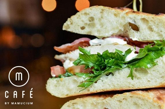 Soup and sandwich at M-Café, Hotel Indigo
