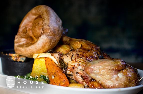 Sunday roast with wine at Quarter House, Stevenson Square