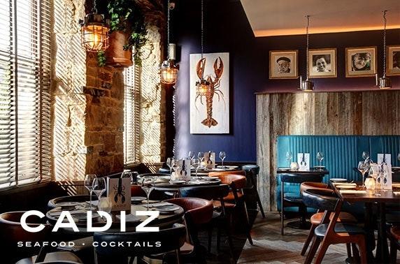 Seafood dining & drinks at Cadiz, George Street