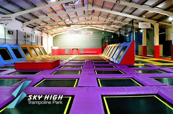 Jump session at Sky High Trampoline Park, Falkirk
